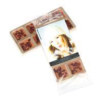 8 Mini-Gourmetschokolade im Goldblister mit Werbeetikett Bild 3