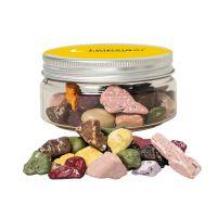 80 g Kakao Kieselsteine in Sweet Dose mit Werbe-Flügeletikett Bild 1