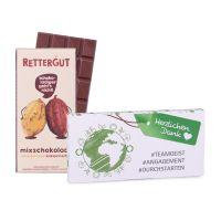 80 g Tafel Rettergut Mixschokolade in Mailingmappe mit Logodruck Bild 2