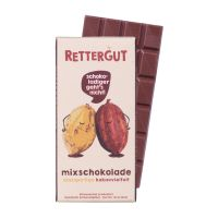 80 g Tafel Rettergut Mixschokolade in Mailingmappe mit Logodruck Bild 3