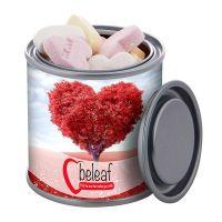 83 g Fruchtherzen in Mini-Farbdose mit Werbebanderole Bild 1