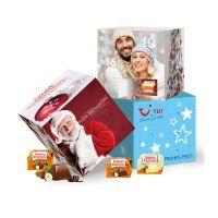 Adventskalender Cube Ferrero Küsschen mit Werbedruck Bild 2