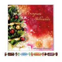 Adventskalender Miniatures Mix Quadratisch mit Logodruck Bild 1