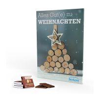 Adventskalender Rettergut Mixschokolade im Hochformat mit Werbedruck Bild 1