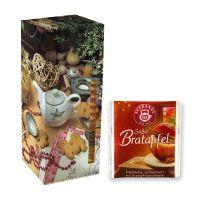Adventskalender Teekanne Weihnachtstee Süßer Bratapfel mit Werbedruck Bild 1