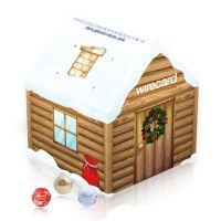 Adventskalender Weihnachtshaus mit Logodruck Bild 3