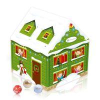 Adventskalender Weihnachtshaus mit Logodruck Bild 4
