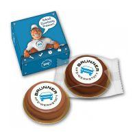 Baumkuchenring mit Marzipanlogo in Werbebox Bild 1