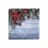 Befüllbarer Adventskalender quadratisch 23 kleine Fächer + 1 großes Fach mit Werbedruck Bild 1