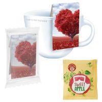 Beuteltee Bio Sweet Apple mit Werbereiter und Bedruckung Bild 1