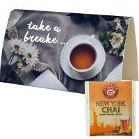 Beuteltee Ney York CHAI in bedruckbarer Klappkarte Bild 1