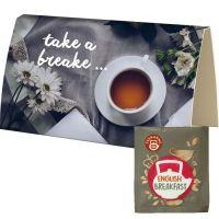 Bio Beuteltee English Breakfast in bedruckbarer Klappkarte Bild 1