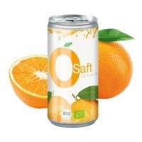 Bio Orangensaft in einer Werbe-Getränkedose mit Logodruck Bild 2