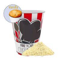 Bio Tassenkuchen-Mischung Vanille-Mandel im Werbebecher Bild 1