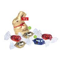 ca. 35 g Kissenverpackung mit Lindt Schokolade mit Werbedruck Bild 2