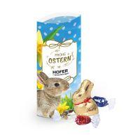ca. 35 g Kissenverpackung mit Lindt Schokolade mit Werbedruck Bild 1