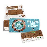 Der Gute Kalender mit Fairtrade-Schokolade und Werbedruck Bild 1