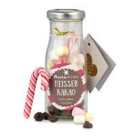 Do it yourself Flasche Heißer Kakao mit Werbe-Etikett und Anhänger Bild 1