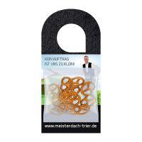 Express Türhänger mit 7 g Bio Mini Brezeln und Logoaufdruck Bild 1
