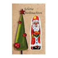 Faltkarte mit Schoko-Herz und Werbedruck Bild 4