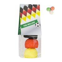 Fanbeutel Marshmallow in Länderfarben mit Werbereiter Bild 1