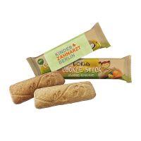 GoKids Bio Cookie Stick Orange-Karotte im Werbeschuber mit Logodruck Bild 1