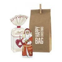Happy Christmas Bag Lindt mit Werbedruck Bild 1