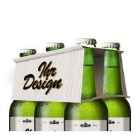 Helles Premium-Bier mit Werbeeetikett Bild 3