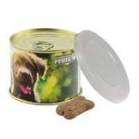 Hunde Leckerli-Konservendose mit Werbebanderole Bild 1