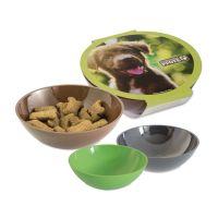 Hunde Leckerli-Schale mit Werbebanderole Bild 1