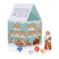 Individuelles Weihnachtshaus Lindt Minis mit Werbedruck Bild 2