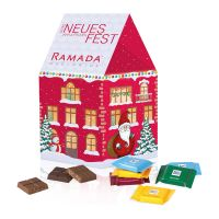Individuelles Weihnachtshaus Ritter SPORT mit Werbedruck Bild 2