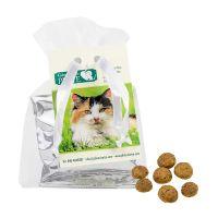 Katzen Leckerli im Organzabeutel mit Werbereiter Bild 1