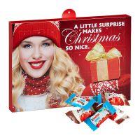 Kinder Schokoladen Mix Adventskalender mit Werbedruck Bild 1