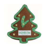 Lebkuchen-Weihnachtsbaum mit essbarer Werbeanbringung Bild 1