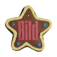 Lebkuchenstern mit essbarem Logoaufdruck und Werbeanbringung Bild 2