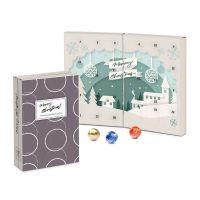 Lindt Adventskalender Buch aus 100 % Kartonage mit Logodruck Bild 1