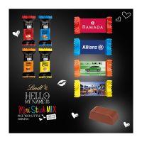 Lindt HELLO Mini Stick im schmalen Werbeschuber mit Logodruck Bild 1