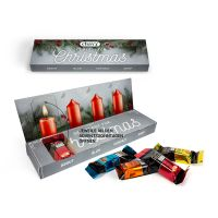 Lindt HELLO mini Sticks Adventsbox aus 100 % Kartonage mit Logodruck Bild 1