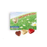 Lindt Herz auf Schokokarte mit Werbebedruckung Bild 3