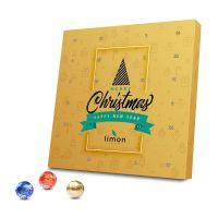 Lindt Lindor Adventskalender aus 100 % Kartonage mit Werbedruck Bild 1