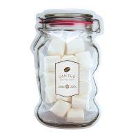 Marshmallows im Maxi-Beutel in Weckglas-Form mit Werbeetikett Bild 1