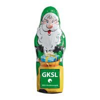 Maxi Schoko-Weihnachtsmann Hohlfigur mit Werbedruck Bild 2