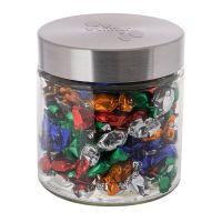 Metallic Bonbons im Glas mit geprägtem Metalldeckel Bild 1
