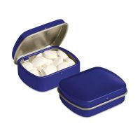 Micro Klappdeckeldose mit Pfefferminzpastillen und Logodruck Bild 5