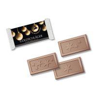 Midi Schokoladen-Täfelchen im X-mas Werbeflowpack Bild 1