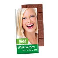 Milka Schokoladentafel in einem Werbekarton mit Logodruck Bild 2