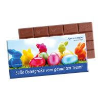 Milka Schokoladentafel in einem Werbekarton mit Logodruck Bild 4
