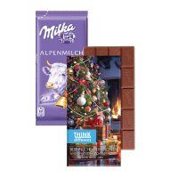 Milka Schokoladentafel in einem Werbekarton mit Logodruck Bild 5