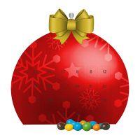 Mini Adventskalender mit Schoko-Erdnüssen und Werbedruck Bild 3